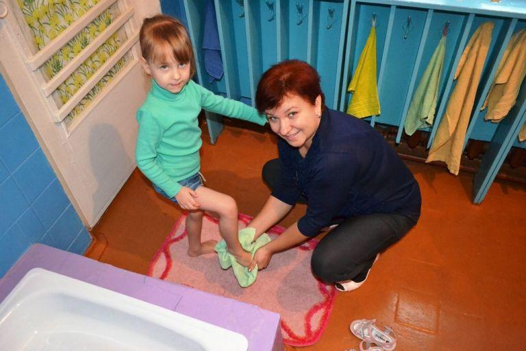 Администрация города помогла отремонтировать бассейн в детском саду