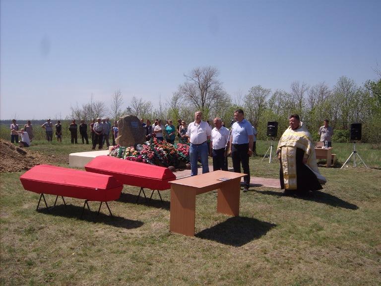 В Новой Калитве перезахоронили останки 24 бойцов