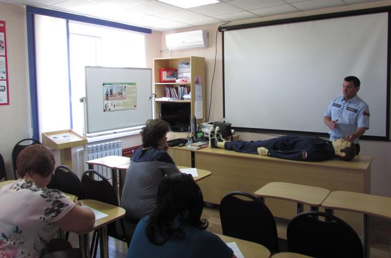 Центр по гражданской обороне провел занятия со спасателями