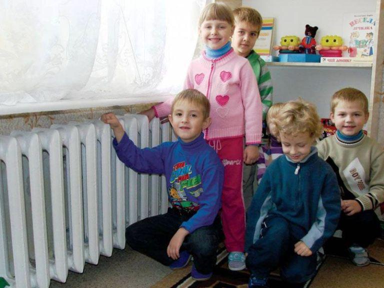 В детских садах города включено отопление