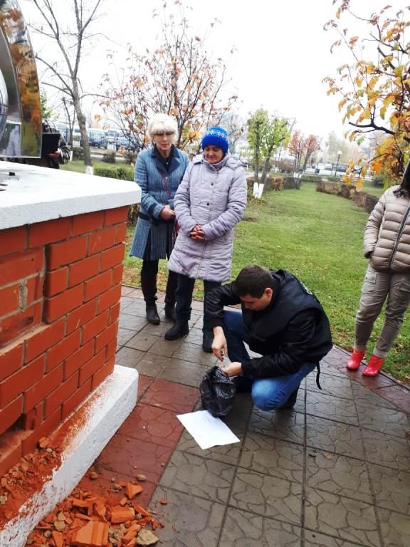 Проведено обследование постамента памятного знака в сквере им. Кирова
